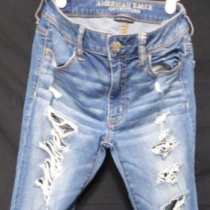 AMERICAN EAGLE OUTFITTERS, stretch denim, size 6